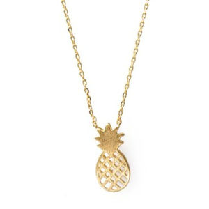 Jewelry - 18K Gold Plated Necklace Pineapple Charms BOGO!